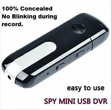 Portable USB Disk SPY Camera Mini Hidden DV DVR Motion Activated Detection Black