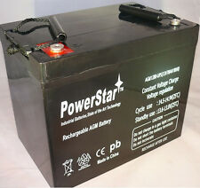 12V 70AH 12 volt AGM Battery Group 24 Solar Golf Cart RV PowerStar lead acid