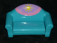 Dora the Explorer Dollhouse Blue Sun Couch Hide-a Bed Pull Out Lounge Chair