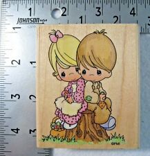 Stampendous Rubber Stamp Precious Moments Boy Girl One Another