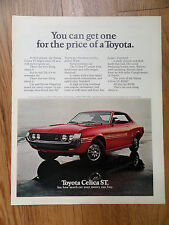 1972 Toyota Celica ST Ad You can get one for the price of a Toyota