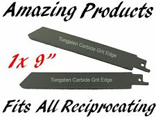 "1 x 9"" Reciprocating Saw Blade Tungsten Carbide Grit"