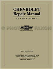 Chevrolet 8.5x11 Shop Manual 1918 1919 1920 1921 1922 1923 1924 Chevy 490 Repair