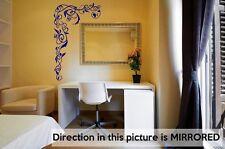 Large Vinyl Vine Corner Floral vinyl wall stickers decorations mural 45cm x 75cm