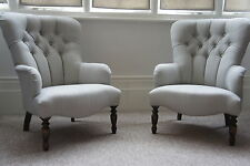 button armchairs Laura ashley edwin dove grey stunning pair of chairs