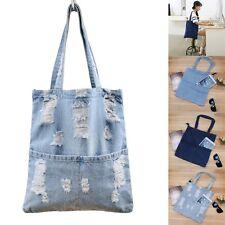 Ladies Designer Large Womens Denim Jeans Bag Handbag Satchel High Quanlity Fine