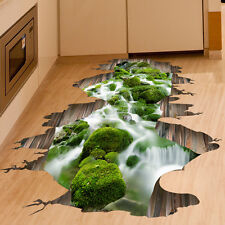 3D Stream Floor/Wall Sticker Removable Mural Decals Vinyl Art Living Room Decor