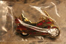 Honda Valerie Cycle motorcyle pin Red cycle color #0568 double pin back