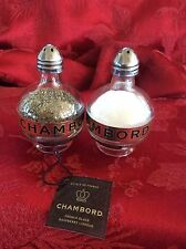 2 Pairs CHAMBORD Liqueur Mini Liquor 50ml Bottles Upcycled SALT & PEPPER Shakers