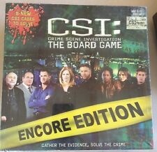 CSI Crime Scene Investigation The Board Game Encore Edition New Factory Sealed