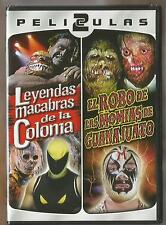 MIL MASCARAS 2 MOVIES NEW DVD VIDEO MOMIAS DE GUANAJUATO/LEYENDAS MACABRAS