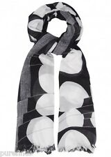 "STELLA MCCARTNEY MONOCHROME MODAL SILK BLEND SCARF 70""x60"", Made In Italy, NWT"