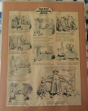 "German Comic Strip by Wilhelm Busch ""The Saturday Evening Bath"" 1st publish 1865"
