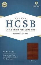 HCSB Large Print Personal Size Bible, Brown LeatherTouch (2014, Imitation...