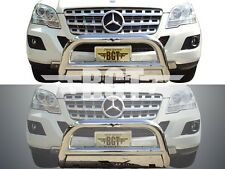BGT 98-05 BENZ ML-CLASS W163 FRONT BULL BAR WITH SKID PLATE BUMPER PROTECTOR S/S