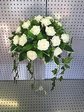 ANY COLOUR Wedding Table Flower Arrangement Round Posy Centrepiece Foam Roses