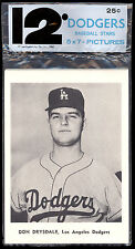 1960'S TEAM ISSUE SET of 12 L A DODGERS Photo cards unopened NM Pack Drysdale