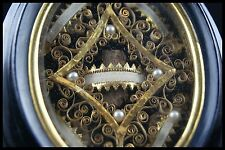 † ST MARY MAGDALENE ST MAXIMINUS 19TH MULTI RELIQUARY PEARLS 5 RELICs FRANCE †