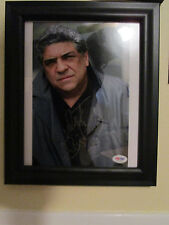 VINCENT PASTORE THE SOPRANOS BIG PUSSY SIGNED & FRAMED 8X10 PSA M72604