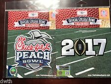 NCAA 2017 Peach Bowl & Black 2017 CFP Championship Patches As Worn By Alabama