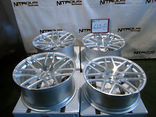 22 Concave Silver Mesh Bentley Continental GT & Flying Spur Stagger Wheels W612B