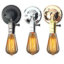 E27 Antique Vintage Switch Type Wall Light Sconce Lamp Bulb Socket Holder Fixtur