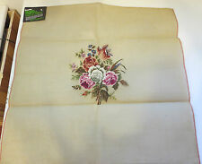 Bucilla decorator needlepoint roses flowers for chair, bench etc. NEW #30781