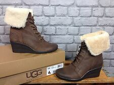 Ugg Australia Uk 5.5 Damas gamuza marrón chocolate Zea Arranque RRP £ 130