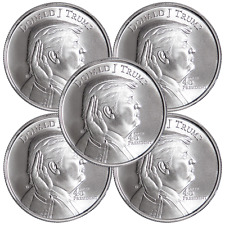Lot of 5 - 1 Troy oz Donald Trump .999 Fine Silver Round