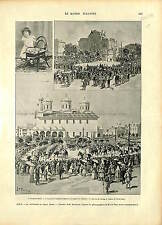Boris III of Bulgaria SOFIA CONVERSION St Nedelya Church Sveti Kral GRAVURE 1896