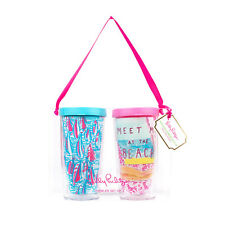 LILLY PULITZER - Tumbler Set - Red Right Return & Meet me at the Beach