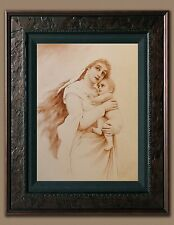 Madonna and Child Picture 8X10 Art Print Old Antique Vintage Photo Jesus Mary