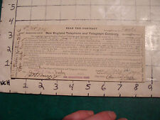 telephone item: CONTRACT AUG 4 1911 signed, hyde park (white)