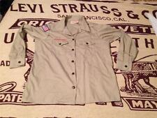 BSA MADE IN USA YOUTH 14-16 LARGE PLAIN ,LONG SLEEVE BOY SCOUT SHIRT