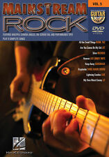 Mainstream Rock Guitar Play Along 8 Songs! DVD NEW!