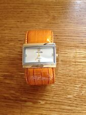 LADIES CHICO`S TAN LEATHER STRAP WATCH