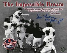 """JIM LONBORG SIGNED 8X10 PHOTO- """"THE IMPOSSIBLE DREAM""""-1967 BOSTON RED SOX"""