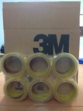 12 ROLLS 3M SCOTCH CLEAR PACKAGING / PACKING TAPE 48MM X 66M FREE 24HR DELIVERY