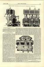 1892 Russell Spence First Triple Expansion Marine Engines