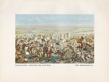 "1952 Wild West Full Color Plate "" Custer's Last Fight "" by Cassilly Adams"
