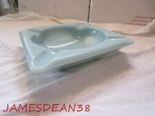 "Vintage Anchor Hocking Fire King Turquoise Blue Delphite 6"" Square Ashtray"