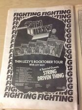 Thin Lizzy Trade Press Advert For ' Fighting ' Album And Tour Dates