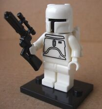 Star Wars White Boba Fett mini figure (unbranded building toy fits with lego)