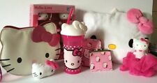 Hello Kitty collectible lot plush backpack keychain pillow bubble bath gift set
