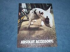 """2002 Absolut Vodka Ad with White Bull Terrier """"Absolut Accessory"""""""