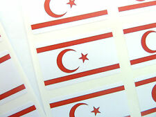 Mini Sticker Pack, Self-Adhesive Northern Cyprus Flag Labels, FR200