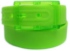 NEW! Neon Green Silicone Rubber Belt Jelly Golf Sports Fashion One Size Fits All
