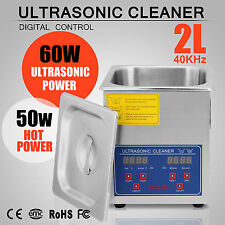 2L Stainless Steel Ultrasonic Cleaner with Heater Mechanical Commercial Grade