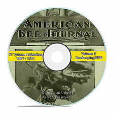 American Bee Journal, Classic Honey Bee Care Journal, 1861-1921, 61 years, V59
