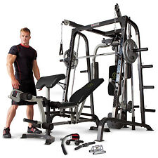 Marcy Diamond Elite MD9010G Smith Machine Home Gym with Weight Bench & Cables